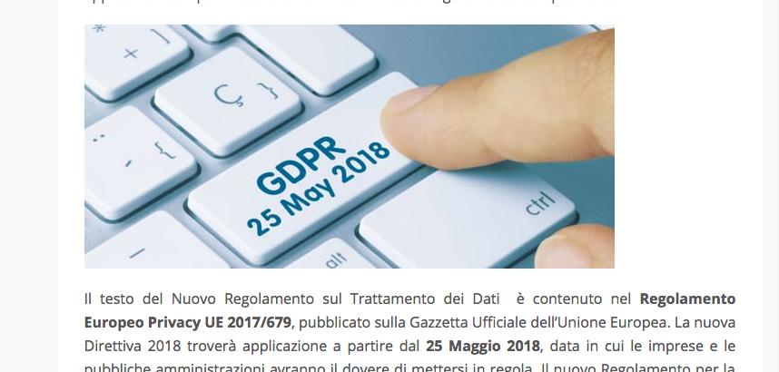 Diritto all'oblio e GDPR 2018